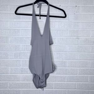 New Vitamin A Halter One Piece Swimsuit Tie Back M